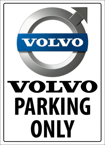 Volvo Parking Only Metallskilt Metallskilt No